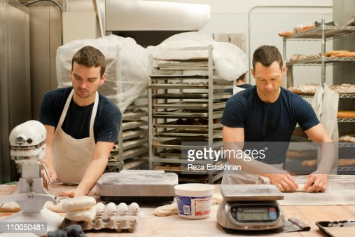 Bakers prepare bread