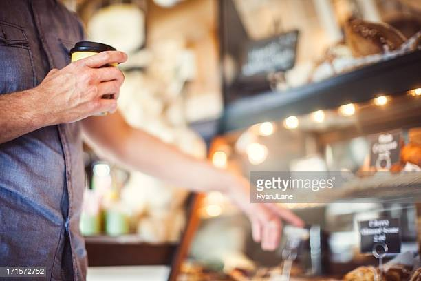 Bakery and Man Placing Order