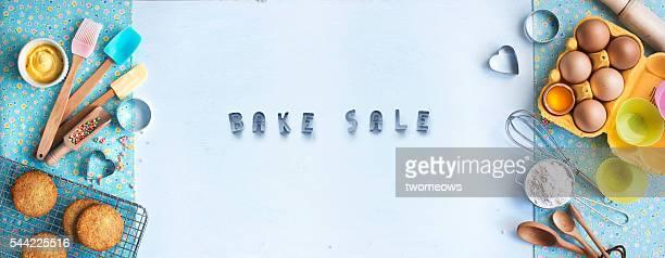 Bakery horizontal banner design background.
