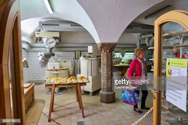 A bakery in the historic center on April 19 2015 in Salzburg Austria