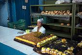 Bakery of Vieja in old town of Havana in Cuba