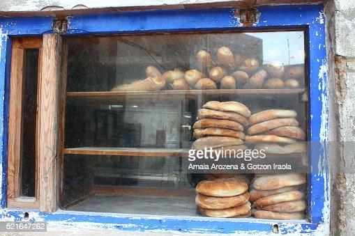 Bakery showcase in Essaouira