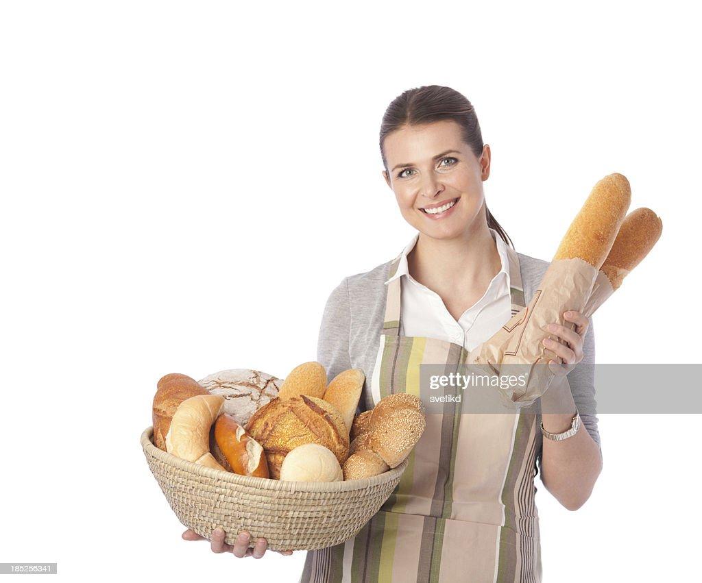 Travailleur de la boulangerie. : Photo