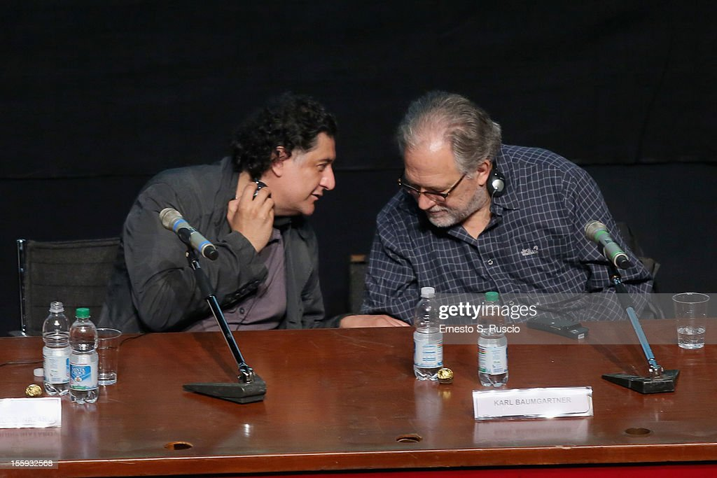 Bakhtyar Khudojnazarov and Karl Baumgartner attend 'Waiting For The Sea' Press Conference during The 7th Rome Film Festival at Sala Petrassi on November 9, 2012 in Rome, Italy.