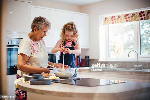 Baking a Cake with Grandma