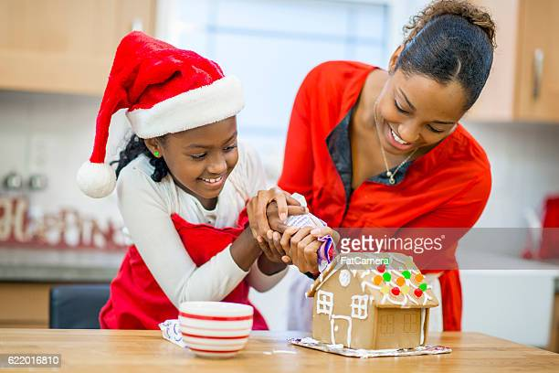 Baking and Decorating a Gingerbread House