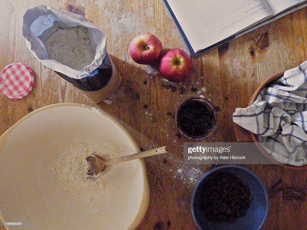 Baking at the table : Stock Photo
