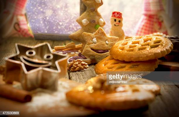 Hornear galletas de Navidad