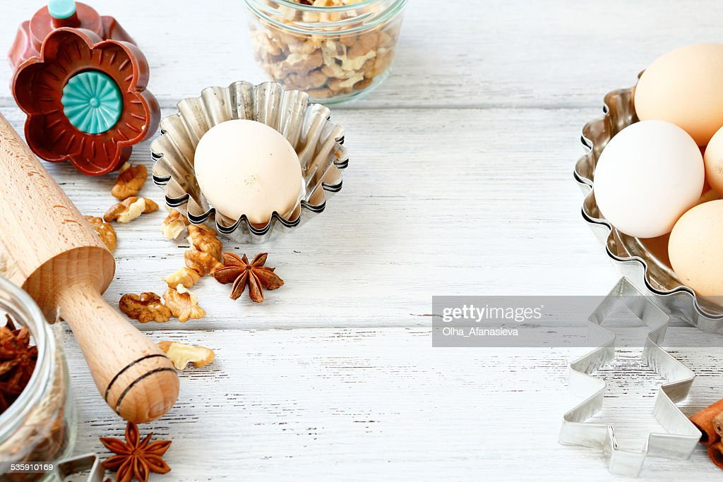 Hornear galletas de Navidad sweet : Foto de stock