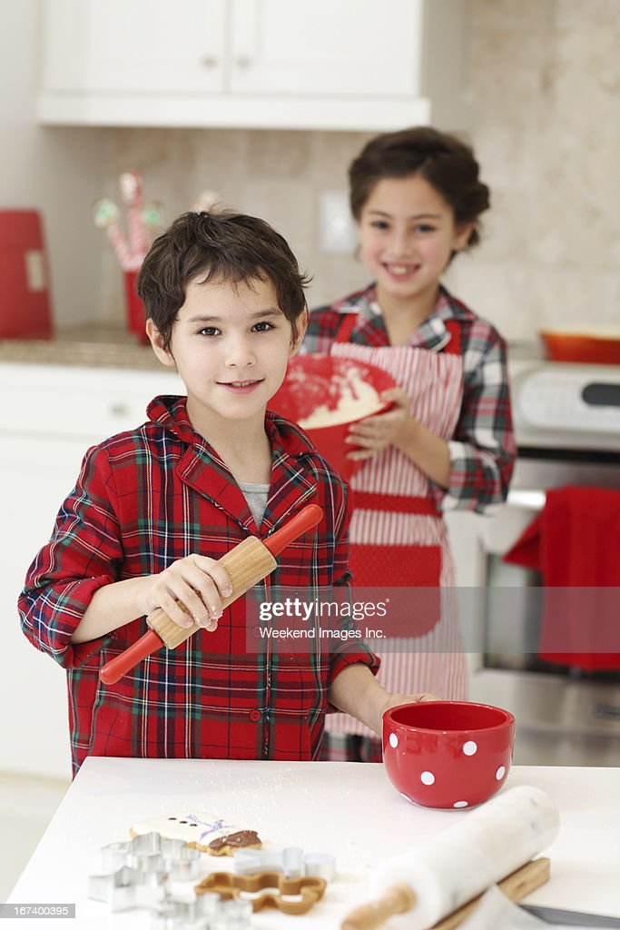 Baking for Christmas : Stock Photo