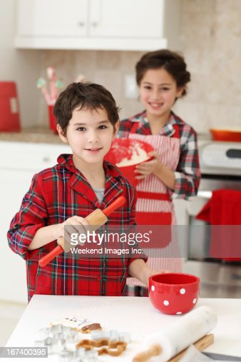 Baking for Christmas : Stockfoto