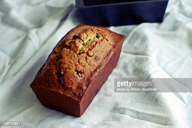 Baking homemade banana bread