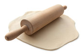 Baking Ingredients: Dough and Rolling Pin