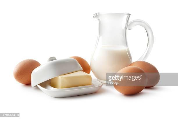 Cottura ingredienti: Uova, del latte e del burro