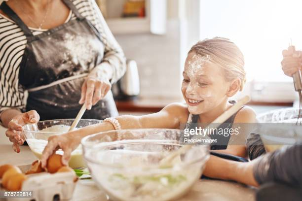 Baking keeps kids entertained and engaged
