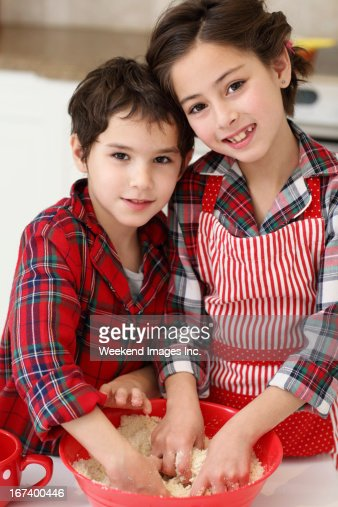 Backen Kinder : Stock-Foto