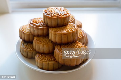 Baking Moon Cake for Chinese Mid-Autumn Festival