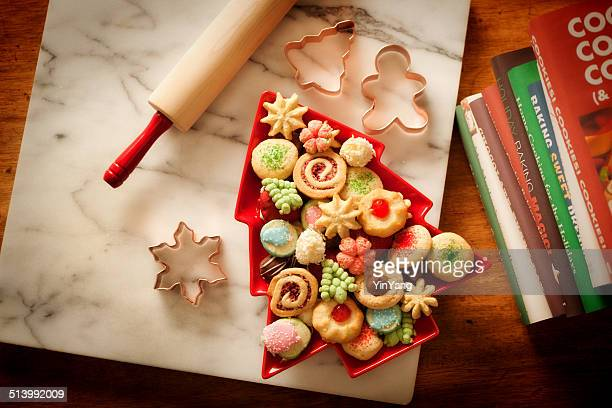Baking Rolling Pin, Cookie Cutters, Baked Home Made Christmas Cookies
