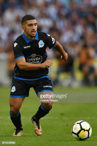 Bakkali of RC Deportivo La Coruna in action during the PreSeason Friendly match between FC Porto and RC Deportivo La Coruna at Estadio do Dragao on...