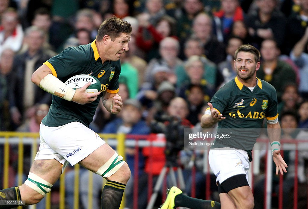 Bakkies Botha of the Springbok in action during the International match between South Africa and World XV at DHL Newlands Stadium on June 07, 2014 in Cape Town, South Africa.