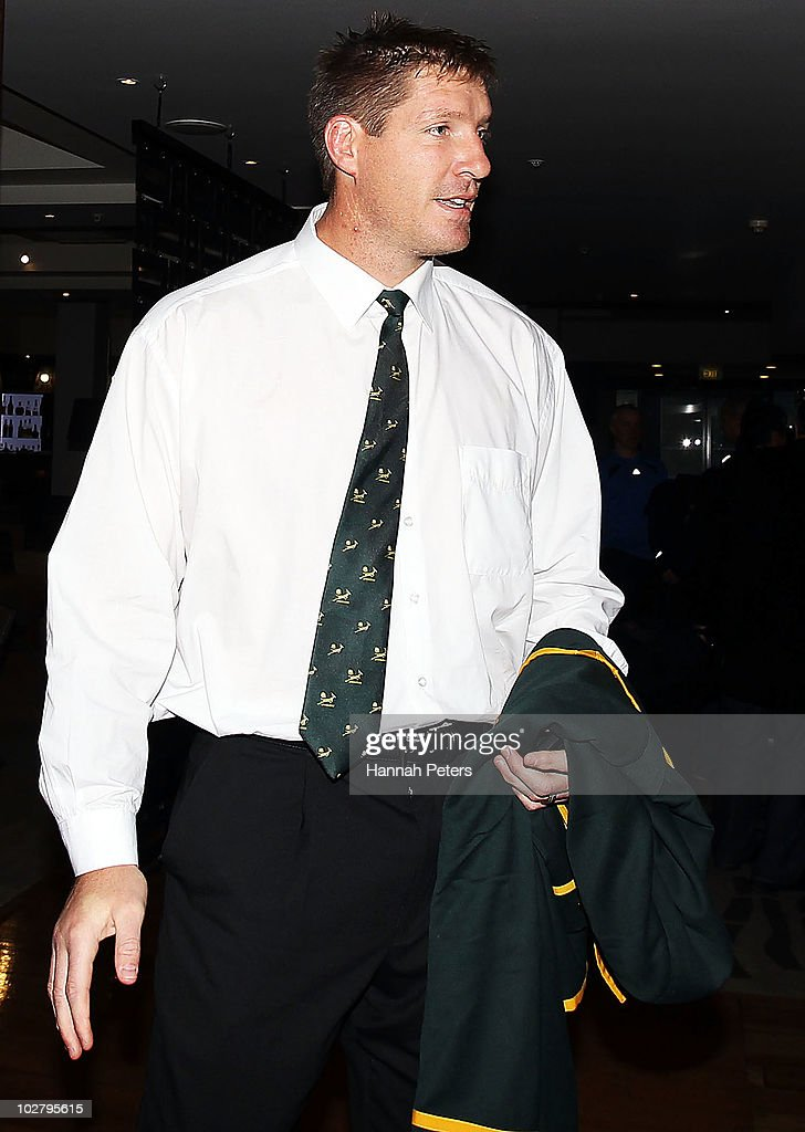 <a gi-track='captionPersonalityLinkClicked' href=/galleries/search?phrase=Bakkies+Botha&family=editorial&specificpeople=227062 ng-click='$event.stopPropagation()'>Bakkies Botha</a> of the Springboks arrives for a SANZAR judicial hearing at the Heritage Hotel on July 11, 2010 in Auckland, New Zealand. Botha was cited for dangerous play during the Tri Nations Series opener, All Blacks v South Africa at Eden Park, in Auckland last night.