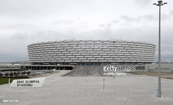 Baku Olympic Stadium is seen during the opening ceremony of the stadium in Baku Azerbaijan on March 18 2015 The first European Games will be held in...