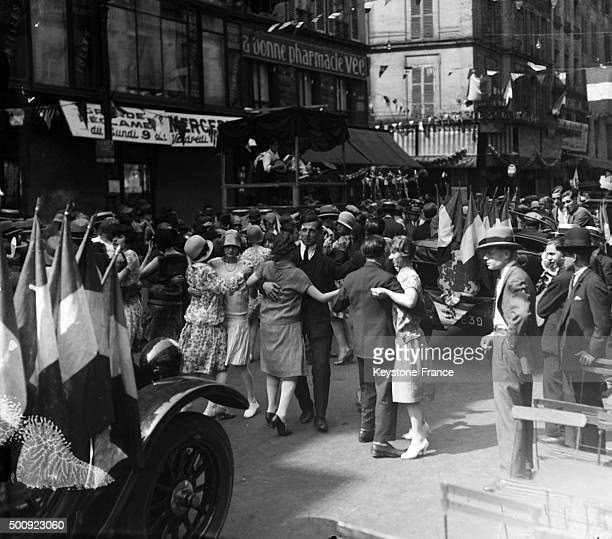 Bal in the streets of Paris on July 14 1928 in Paris France