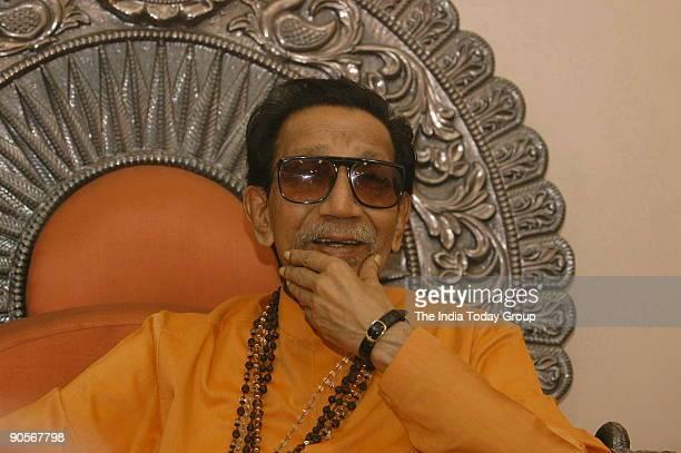 Bal Thackeray Shiv Sena chief in Mumbai Maharashtra India