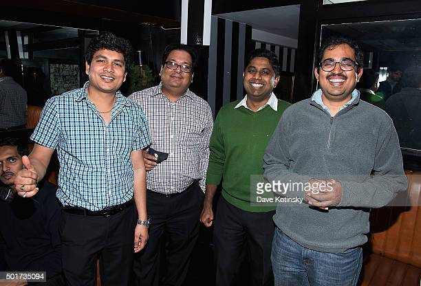 Balaji Praveen Yerra Saurabh Srivastava Suresh Mohankrishnan and Anand Merugu at the ITI Data Corporate Holiday Party at Omar's NYC on December 10...