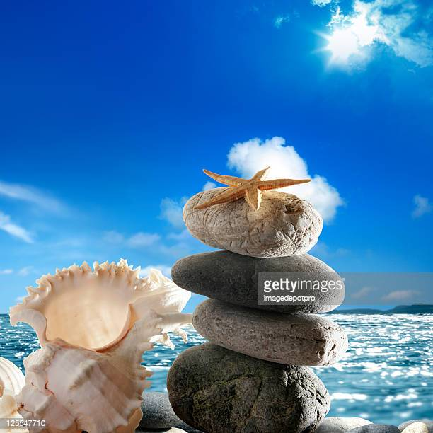 balance and harmony on beach