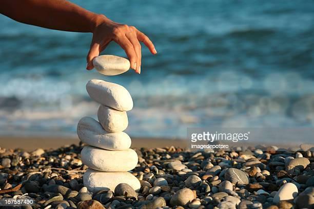 Gleichgewicht und Frau
