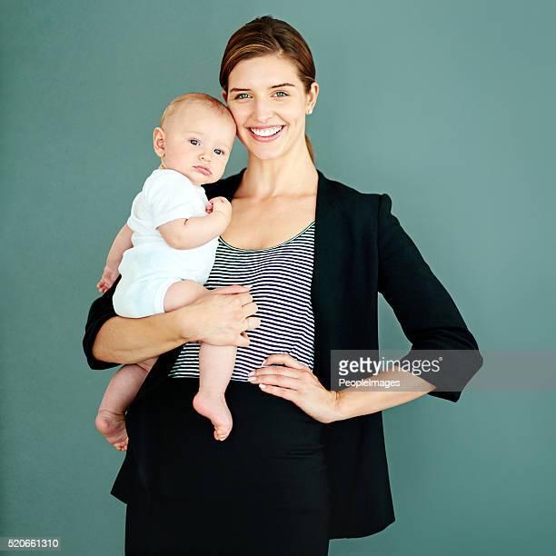 Ich Gleichgewicht zwischen Geschäft und ein Baby, was ist die Großmacht?