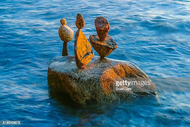 Balanced rocks at sea