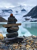 Pile of stones balancing on top of each other