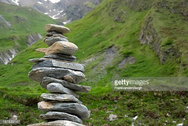 Balancing stack of rocks