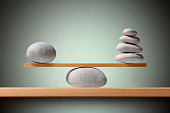 Balancing stones on the shelf.