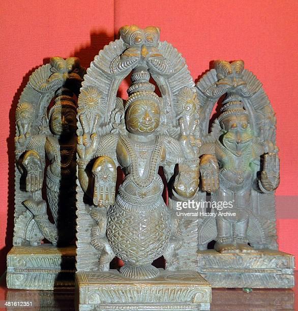 Balarama elder brother of Krishna and Kalki the final incarnation of Vishnu 18th century AD Southern India