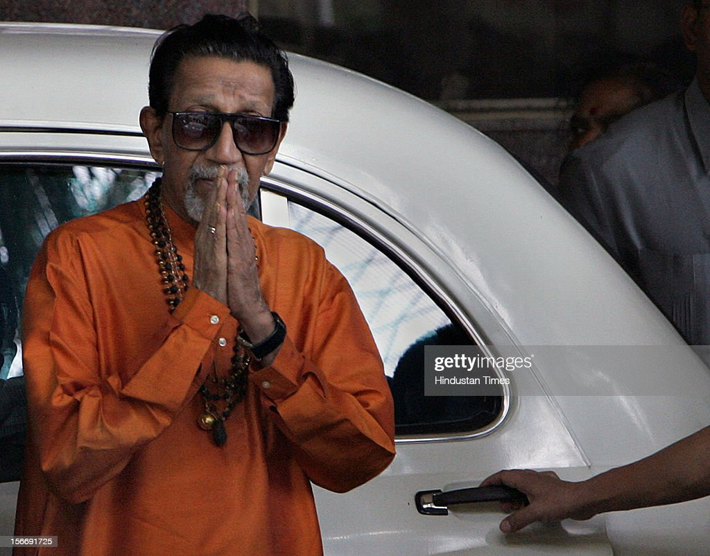 Balasaheb Thackeray at Hinduja Hospital after Pramod Mahajan passed away at 4:10pm on May 3, 2006 in Mumbai, India.