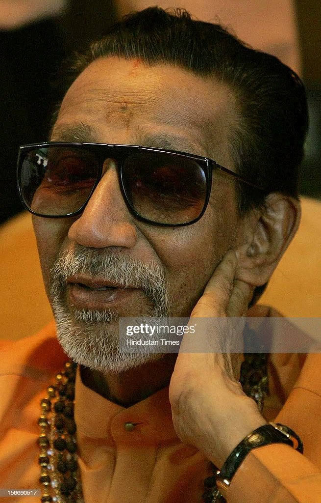 Balasaheb Thackeray attends a press conference at Kankavali on November 17, 2005 in Mumbai, India.