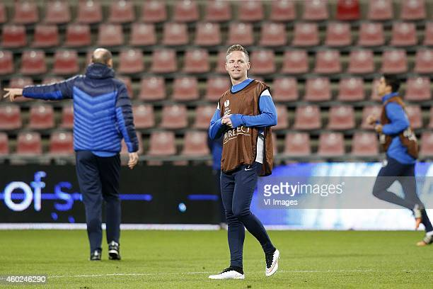 Balazs Dzsudzsak of Dinamo Moscow during a training session of Dinamo Moscow prior to the Europa League match between PSV Eindhoven and Dinamo Moscow...