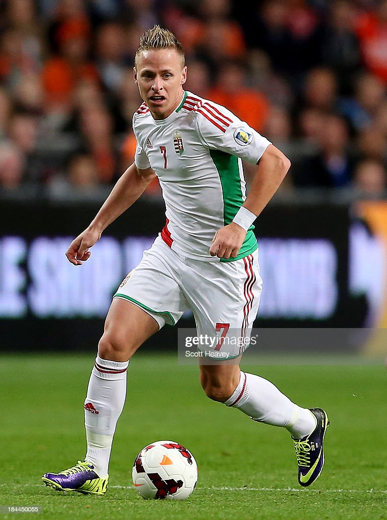 Balazs Dzsudzsak of Hungary during the FIFA 2014 World Cup Qualifing match between Holland and Hungary at Amsterdam Arena on October 11 2013 in...