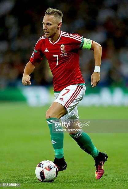 Balazs Dzsudzsak of Hungary in action prior to the UEFA EURO 2016 round of 16 match bewtween Hungary and Belgium at Stadium Municipal on June 26 2016...