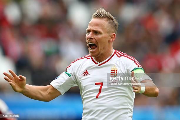 Balazs Dzsudzsak of Hungary reacts after his shot saved during the UEFA EURO 2016 Group F match between Austria and Hungary at Stade Matmut...