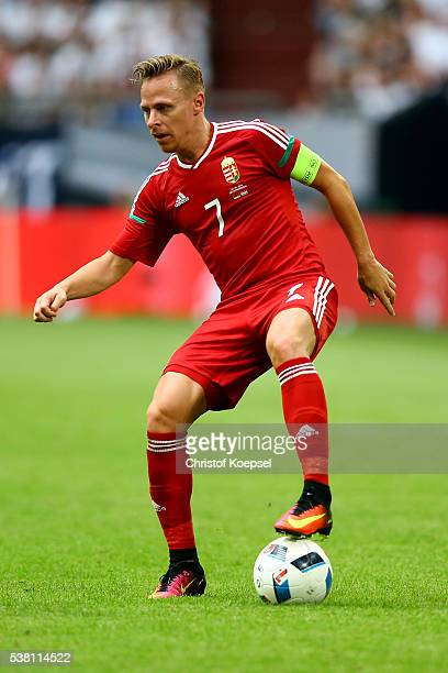 Balazs Dzudzsak of Hungary runs with the ball during the International Friendly match between Germany and Hungary at VeltinsArena on June 4 2016 in...