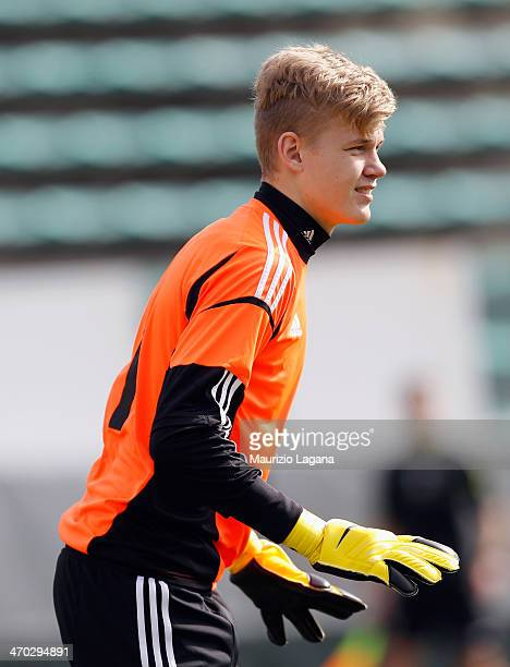Balazs Toth of Hungary during the international friendly match between Italy U17 and Hungary U17 at Stadio Oreste Granillo on February 19 2014 in...