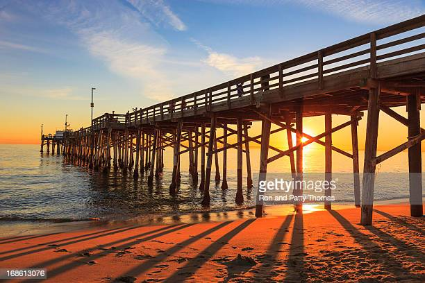 Balboa Pier in Orange County, California at sunset