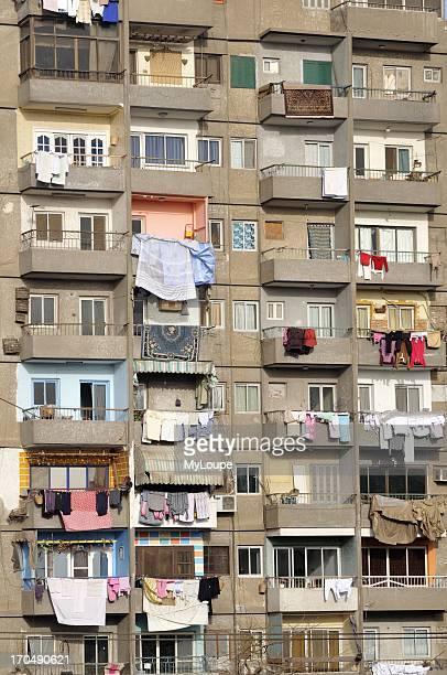 Balconies of Apartment Block Cairo Egypt