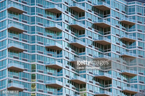 Balconies on an apartment building : Stock Photo