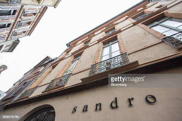 Balconies sit above a Sandro luxury clothing store operated by SMCP Group in Toulouse France on Wednesday Feb 10 2016 Shandong Ruyi Group the Chinese...