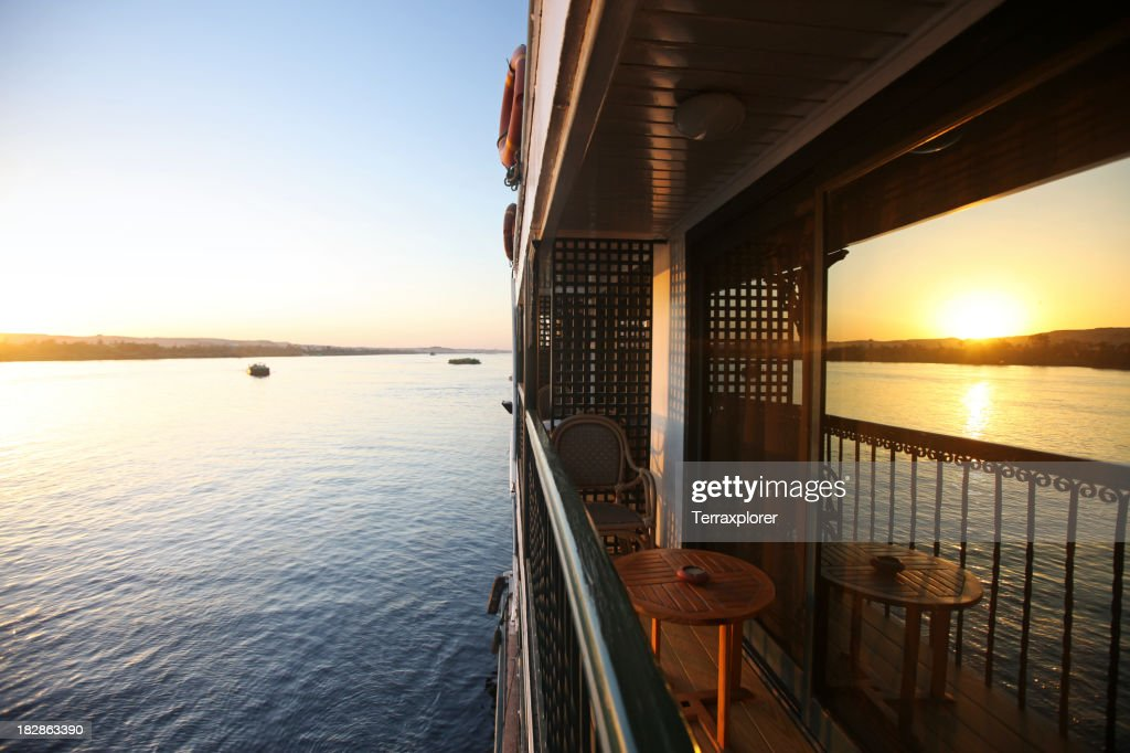 Balcony of Cruise Ship at Sunset